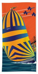 Usna Sunset Sail Bath Towel