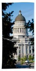 Utah State Capitol Building, Salt Lake Hand Towel by Panoramic Images