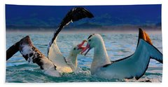 Wandering Albatross Bath Towel by Amanda Stadther