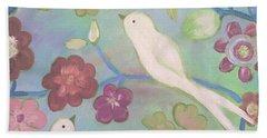 White Doves Bath Towel