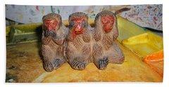 3 Wise Monkeys Watercolor Pallet Bath Towel