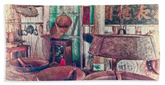 Hand Towel featuring the photograph 3-wok Kitchen by Jim Thompson