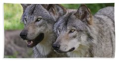 Timber Wolf Pictures Bath Towel