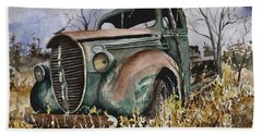 39 Ford Truck Bath Towel by Sam Sidders
