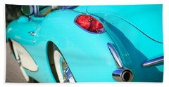 Bath Towel featuring the photograph 1957 Chevrolet Corvette Taillight by Jill Reger