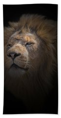 Bath Towel featuring the photograph African Lion by Peter Lakomy