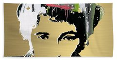Bruce Springsteen Gold Series Hand Towel by Marvin Blaine