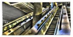 Canary Wharf Station Hand Towel by David Pyatt