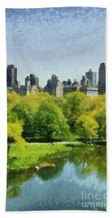 Central Park In New York Hand Towel