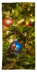 Hand Towel featuring the photograph Christmas Tree Ornaments by Alex Grichenko