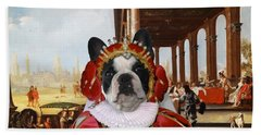 French Bulldog Art Canvas Print Hand Towel