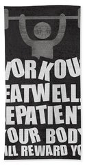 Gym Motivational Quotes Poster Hand Towel
