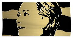 Hillary Clinton Gold Series Hand Towel by Marvin Blaine