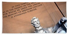 Lincoln Memorial Hand Towel