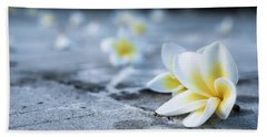Plumaria Flowers Bath Towel