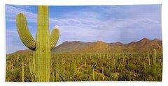 Saguaro Cactus Carnegiea Gigantea Bath Towel