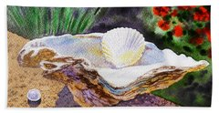 Sea Shell And Pearls Morning Light Hand Towel