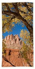 The Castle Capitol Reef National Park Bath Towel