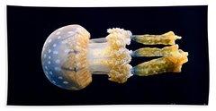 The Spotted Jelly Or Lagoon Jelly Mastigias Papua. Bath Towel