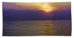 View Of Sunset Through Clouds Bath Towel