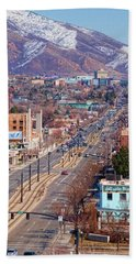 Hand Towel featuring the photograph 400 S Salt Lake City by Ely Arsha