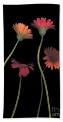 4daisies On Stems Hand Towel by Heather Kirk