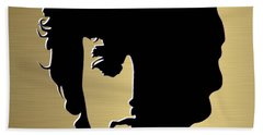 Bob Dylan Gold Series Hand Towel by Marvin Blaine