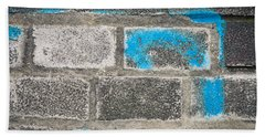 Hand Towel featuring the photograph Brick Wall by Tom Gowanlock