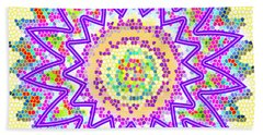 Sparkle Signature Art Chakra Round Mandala By Navinjoshi At Fineartamerica.com Rare Fineart Images  Hand Towel by Navin Joshi