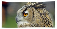 European Eagle Owl Bath Towel