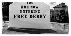 Free Derry Corner  Bath Towel by Nina Ficur Feenan