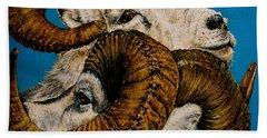 Horns Bath Towel by Linda Simon