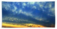 Nebraska Mammatus Sunset Hand Towel