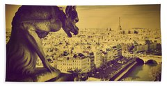 Paris Panorama France  Hand Towel