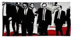 Reservoir Dogs Hand Towel by Luis Ludzska