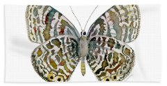 51 Lang's Short-tailed Blue Butterfly Hand Towel