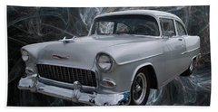 55 Chevy Hand Towel by Chris Thomas