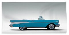 57 Chevy Convertible Hand Towel