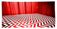 Hand Towel featuring the painting Black Lodge by Luis Ludzska
