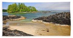 Coast Of Pacific Ocean On Vancouver Island Bath Towel