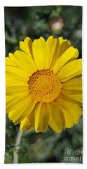 Crown Daisy Flower Bath Towel by George Atsametakis