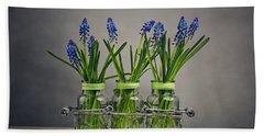 Hyacinth Still Life Hand Towel