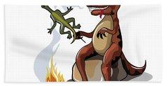 Illustration Of A Tyrannosaurus Rex Bath Towel