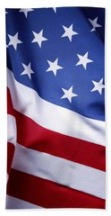 American Flag 50 Hand Towel