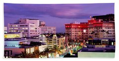 High Angle View Of Buildings In A City Hand Towel by Panoramic Images