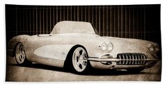 Bath Towel featuring the photograph 1960 Chevrolet Corvette by Jill Reger