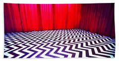 Bath Towel featuring the painting Black Lodge by Luis Ludzska