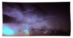 Our 1st Severe Thunderstorms In South Central Nebraska Bath Towel