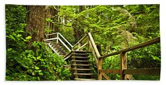 Path In Temperate Rainforest Bath Towel