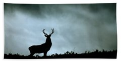 Stag Silhouette Hand Towel